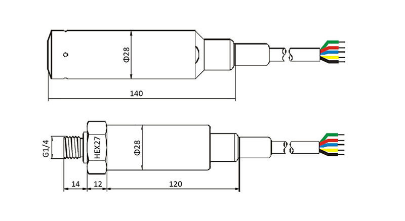ESL040T Temperature Liquid Level Transmitters drawing