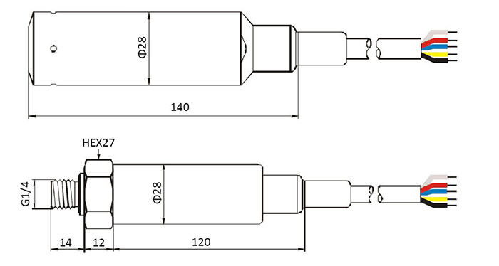 ESL048 Digital Liquid Level Transmitter drawing