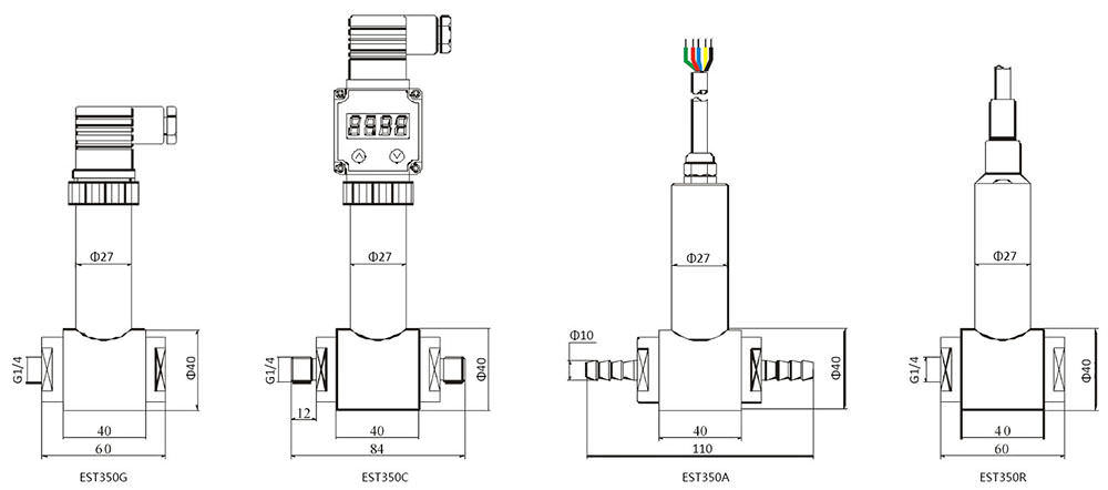 EST350 Differential Pressure Transmitters drawing 2