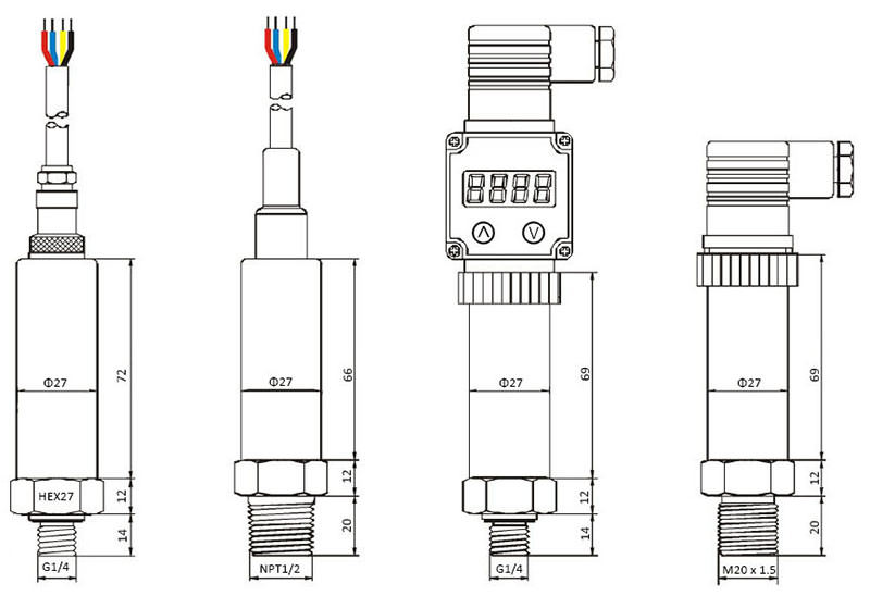 EST370 Absolute Pressure Transmitters drawing 2
