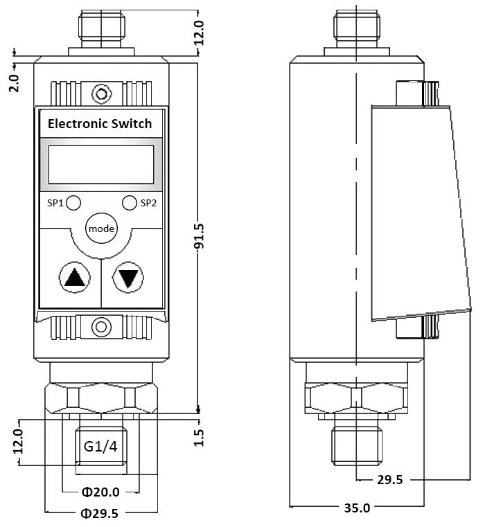ESS201 Intelligent Pressure Switch drawing